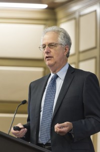 """Attorney Thomas Leavens addressed issues of fair use at The John Marshall Law School's """"Hot Topics in Intellectual Property"""" series. His discussion focused on the Court of Appeals decision in Cariou v Prince."""