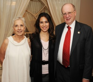 Nancy Piña (center) got to meet Joan Pantsios (left) and Professor Cliff Scott-Rudnick, two of the benefactors to the William E. Rodriguez Memorial Scholarship. Piña is its first recipient.