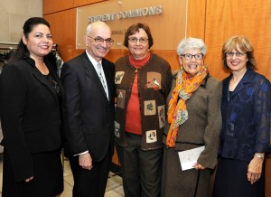 Professor Michael Seng has had outstanding assistance from the Fair Housing Legal Support Center's administrative team (from left) Maria Chavez, retiree Elaine Morey, RoseMarie Knight and Nancy Fehr.