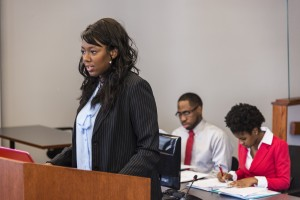 College students participated in mock trial sessions