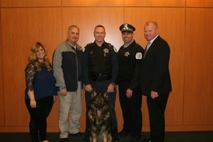 Members of John Marshall's Animal Law Society and Law Enforcement Students Organization joined together to raise funds for police vests for K-9 officers.