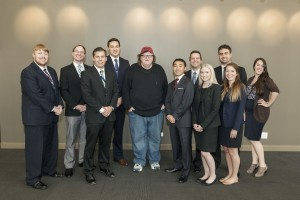 Michael Moore poses with the 2014-2015 RIPL Executive Board.