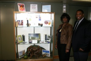 Phyllis J. Finney & Professor Kevin Hopkins coordinated the annual Black History Month display in the JMLS Library. This year's display honored African-American museums in the U.S.