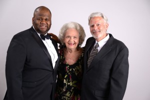 SBA President Raymond Rushing poses with Miss Criss and Dean William Powers at the annual Barrister's Ball.