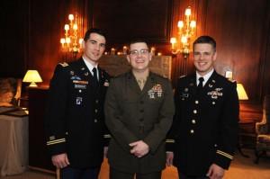 Alums Michael E. Barnicle, Nicholas Henry and Ryan Coward.