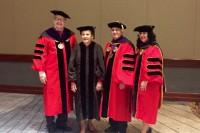 (from L to R) Dean Corkery, Justice Garman, BOT President Len Amari and Alumni Association 1st Vice President Jennifer Irmen.